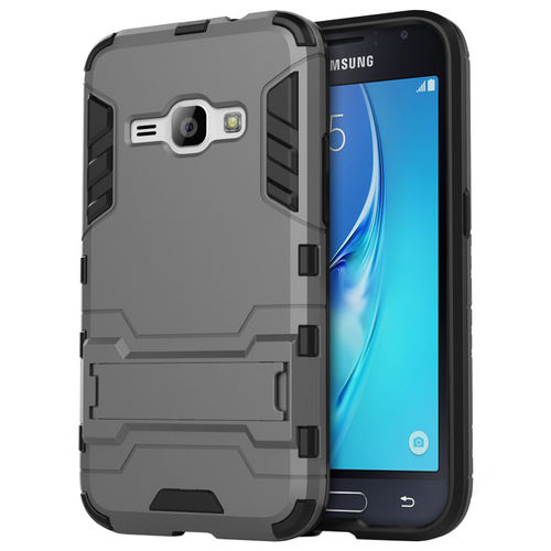Slim Armour Tough Shockproof Case for Samsung Galaxy J1 (2016) - Grey